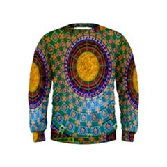 Temple Abstract Ceiling Chinese Kids  Sweatshirt