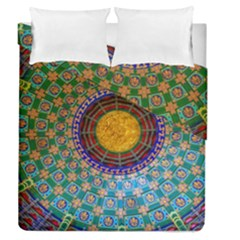 Temple Abstract Ceiling Chinese Duvet Cover Double Side (queen Size)