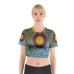 Temple Abstract Ceiling Chinese Cotton Crop Top