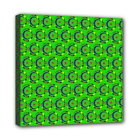 Abstract Art Circles Swirls Stars Mini Canvas 8  X 8