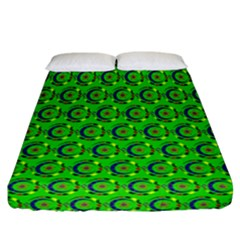 Abstract Art Circles Swirls Stars Fitted Sheet (california King Size)