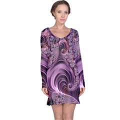 Abstract Art Fractal Art Fractal Long Sleeve Nightdress