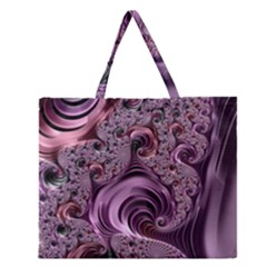 Abstract Art Fractal Art Fractal Zipper Large Tote Bag