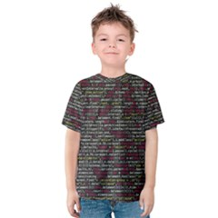 Full Frame Shot Of Abstract Pattern Kids  Cotton Tee
