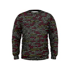 Full Frame Shot Of Abstract Pattern Kids  Sweatshirt