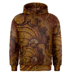 Copper Caramel Swirls Abstract Art Men s Pullover Hoodie