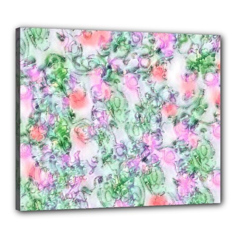 Softly Floral A Canvas 24  X 20  by MoreColorsinLife