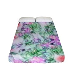 Softly Floral A Fitted Sheet (full/ Double Size) by MoreColorsinLife