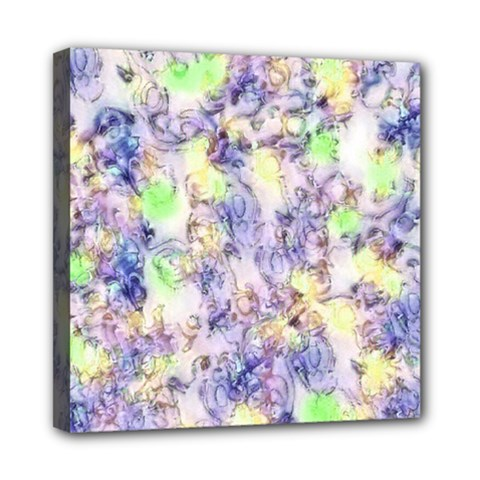 Softly Floral B Mini Canvas 8  X 8  by MoreColorsinLife