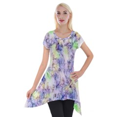 Softly Floral B Short Sleeve Side Drop Tunic by MoreColorsinLife