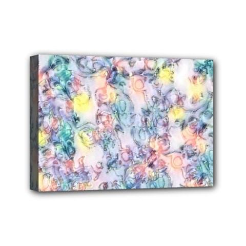 Softly Floral C Mini Canvas 7  X 5  by MoreColorsinLife
