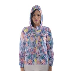 Softly Floral C Hooded Wind Breaker (women) by MoreColorsinLife