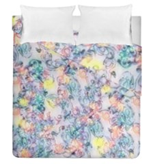 Softly Floral C Duvet Cover Double Side (queen Size) by MoreColorsinLife