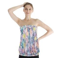 Softly Floral C Strapless Top by MoreColorsinLife
