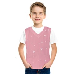 Pink Background With White Hearts On Lines Kids  Sportswear by TastefulDesigns