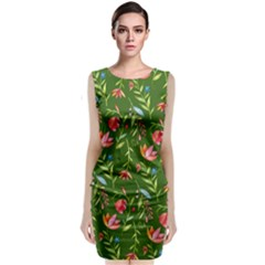 Sunny Garden I Sleeveless Velvet Midi Dress