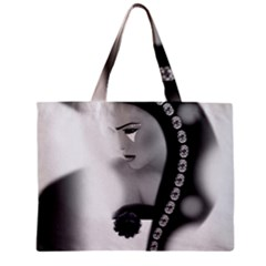 Silence Of Beauty Zipper Mini Tote Bag by mugebasakart