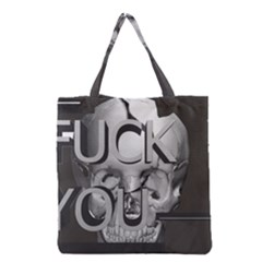 Fuck You Grocery Tote Bag by mugebasakart