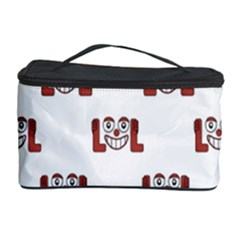 Lol Emoji Graphic Pattern Cosmetic Storage Case by dflcprints