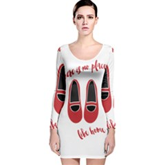 There Is No Place Like Home Long Sleeve Velvet Bodycon Dress by Valentinaart