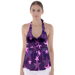 Background With A Stars Babydoll Tankini Top