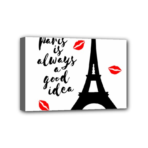 Paris Mini Canvas 6  X 4  by Valentinaart