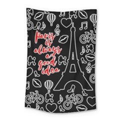 Paris Small Tapestry by Valentinaart