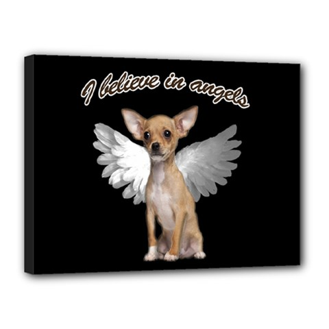 Angel Chihuahua Canvas 16  X 12  by Valentinaart
