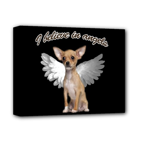 Angel Chihuahua Deluxe Canvas 14  X 11  by Valentinaart