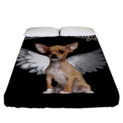 Angel Chihuahua Fitted Sheet (king Size) by Valentinaart