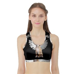 Angel Chihuahua Sports Bra With Border by Valentinaart