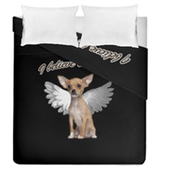 Angel Chihuahua Duvet Cover Double Side (queen Size) by Valentinaart