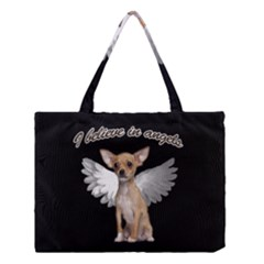 Angel Chihuahua Medium Tote Bag by Valentinaart