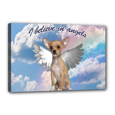 Angel Chihuahua Canvas 18  X 12  by Valentinaart