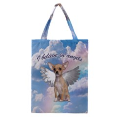 Angel Chihuahua Classic Tote Bag by Valentinaart