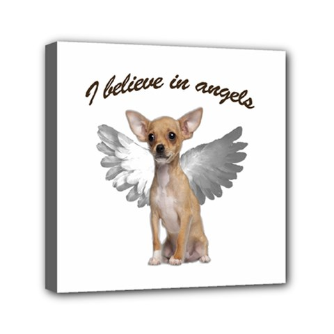 Angel Chihuahua Mini Canvas 6  X 6  by Valentinaart