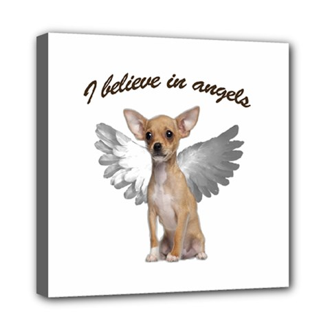 Angel Chihuahua Mini Canvas 8  X 8  by Valentinaart
