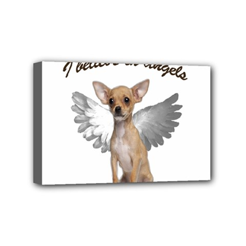 Angel Chihuahua Mini Canvas 6  X 4  by Valentinaart