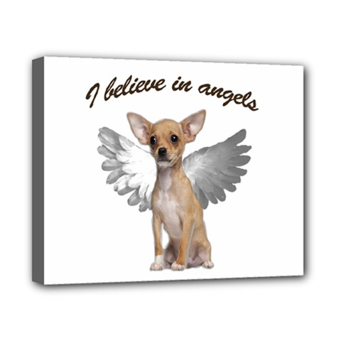 Angel Chihuahua Canvas 10  X 8  by Valentinaart