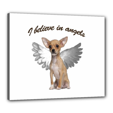 Angel Chihuahua Canvas 24  X 20  by Valentinaart