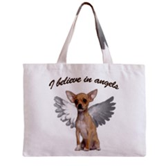 Angel Chihuahua Mini Tote Bag by Valentinaart