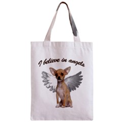 Angel Chihuahua Zipper Classic Tote Bag by Valentinaart