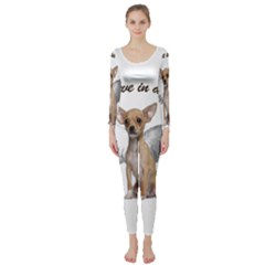 Angel Chihuahua Long Sleeve Catsuit by Valentinaart