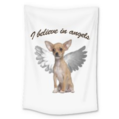 Angel Chihuahua Large Tapestry by Valentinaart