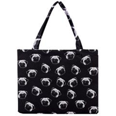 Pug Dog Pattern Mini Tote Bag by Valentinaart