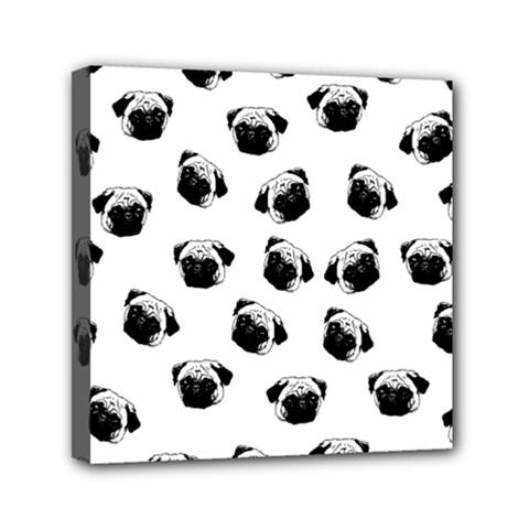 Pug Dog Pattern Mini Canvas 6  X 6  by Valentinaart