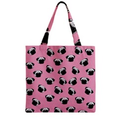 Pug Dog Pattern Grocery Tote Bag by Valentinaart