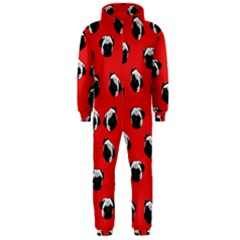 Pug Dog Pattern Hooded Jumpsuit (men)