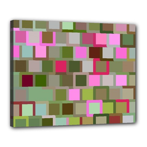 Color Square Tiles Random Effect Canvas 20  X 16