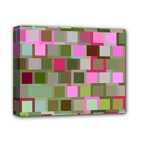 Color Square Tiles Random Effect Deluxe Canvas 14  X 11  by Nexatart